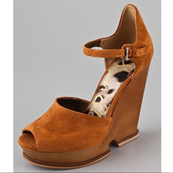 45f5c148ef0d40 Sam Edelman Javi Cutout Wedge Sandals - Rust